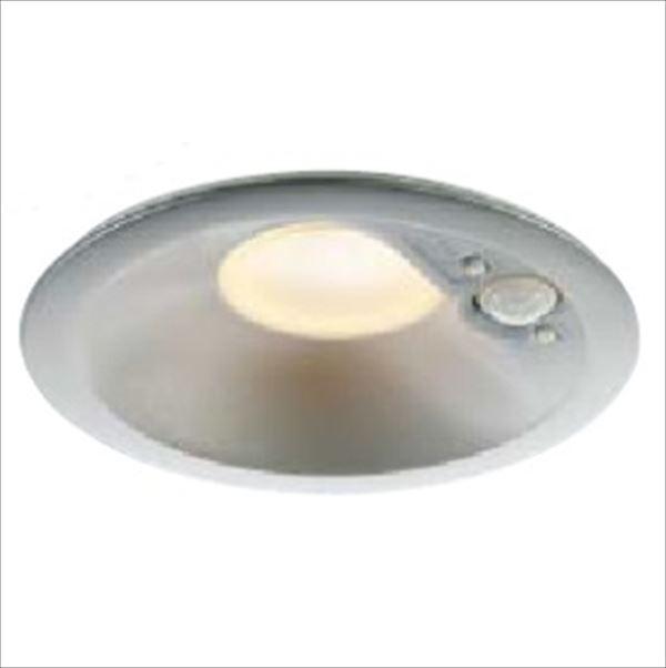 コイズミ 人感センサ付ダウンライト 「屋内屋外兼用」 開口径125ベースタイプ マルチタイプ 白熱球100Wクラス AD41915L 電球色 『ガーデンライト エクステリア照明 ライト LED』 ブライトシルバー
