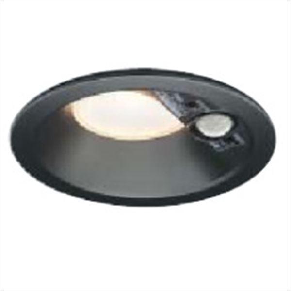 コイズミ 人感センサ付ダウンライト 「屋内屋外兼用」 開口径100ベースタイプ マルチタイプ 白熱球100Wクラス AD46458L 温白色 『ガーデンライト エクステリア照明 ライト LED』 黒色