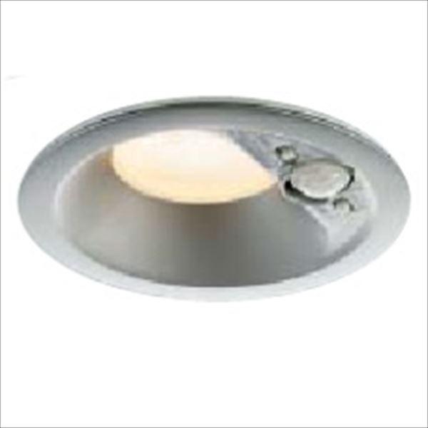 コイズミ 人感センサ付ダウンライト 「屋内屋外兼用」 開口径100ベースタイプ マルチタイプ 白熱球100Wクラス AD41918L 電球色 『ガーデンライト エクステリア照明 ライト LED』 ブライトシルバー