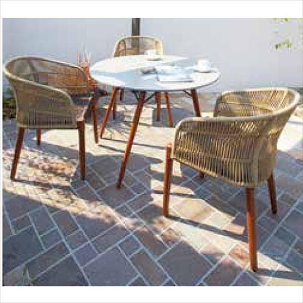 タカショー オーパス テーブルチェア4点セット 『ガーデンチェア ガーデンテーブル セット』