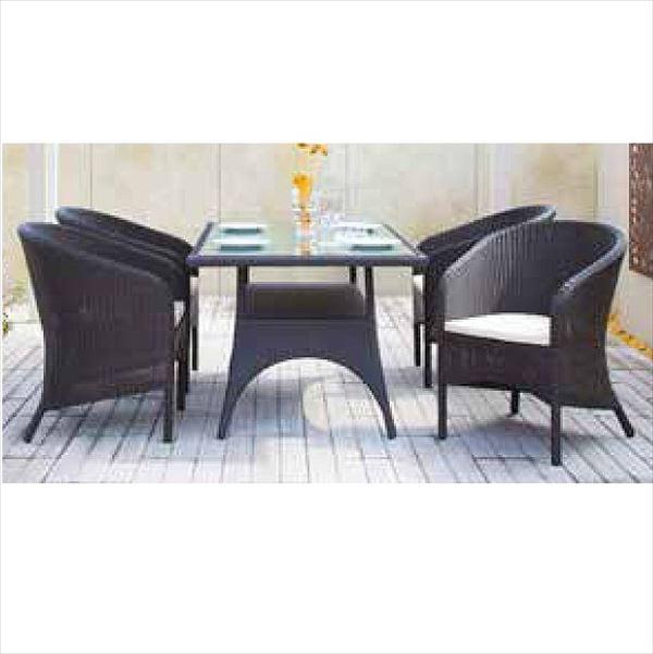 タカショー イジアン テーブルチェア5点セット 『ガーデンチェア ガーデンテーブル セット』