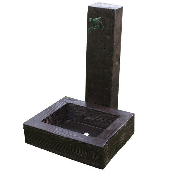 旭興進 軽量FRP製 水栓柱ユニットセット(枕木風)  aks-78820