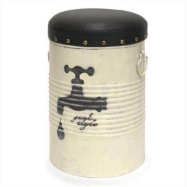 azi-azi ペール缶スツール ホワイト AZ-1178