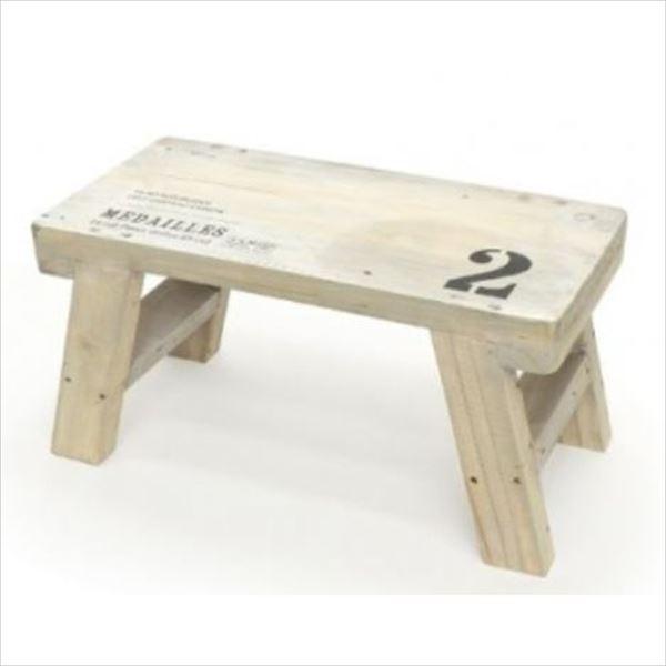 azi-azi ウッドミニテーブル ホワイト AZ-1134