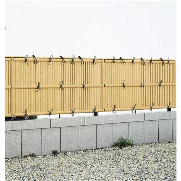 YKKAP 竹垣風フェンス 建仁寺垣 本体 コーナー部用 T80 片面タイプ 真竹調
