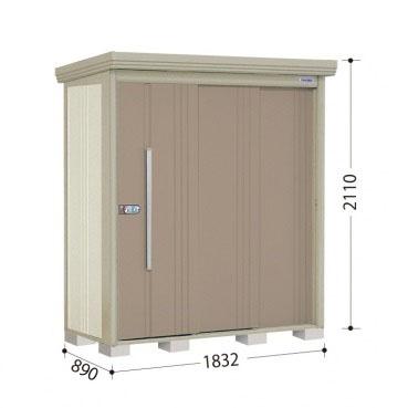 タクボ物置 ND/ストックマン ND-S1808 多雪型 標準屋根 『追加金額で工事も可能』 『屋外用中型・大型物置』 カーボンブラウン