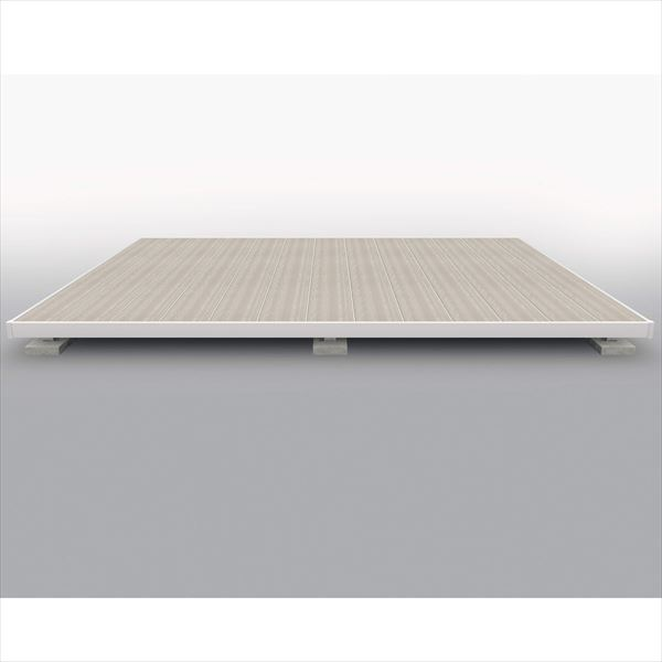 屋外フローリング 三協アルミ 人工木 『ウッドデッキ 1.5間×4尺 シングルフレームタイプ ラステラ 9040 標準納まり 樹脂デッキの進化形』 束柱・固定 H=700