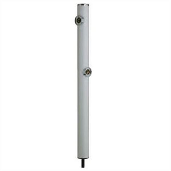 前澤化成工業 2口丸型アルミ水洗柱 『下取出タイプ』 HI-16WR×960 ホワイト
