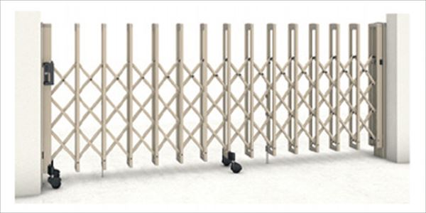 三協アルミ クロスゲートT 3クロスタイプ 両開きタイプ 36W(18S+18M)H14(1410mm) ガイドレールタイプ(後付け) 『カーゲート 伸縮門扉』