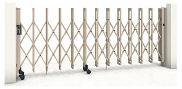三協アルミ クロスゲートM 2クロスタイプ 標準 両開きタイプ 74W(37S+37M)H12(1210mm) キャスタータイプ 『カーゲート 伸縮門扉』