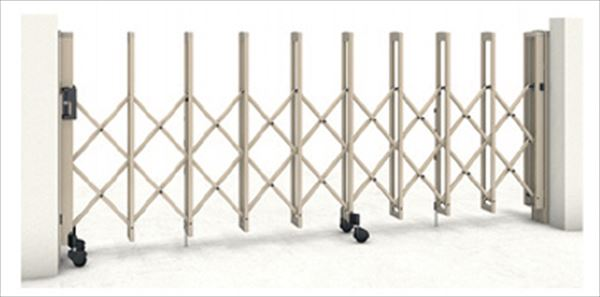 三協アルミ クロスゲートL 2クロスタイプ 広ピッチ 両開きタイプ 72W(36S+36M)H12(1240mm) キャスタータイプ 『カーゲート 伸縮門扉』
