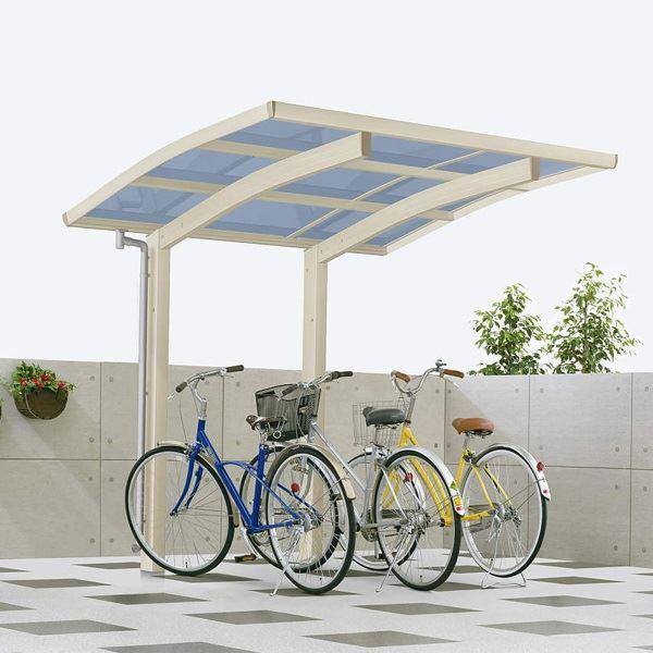 サイクルポート YKKAP レイナポートグラン ミニ 22-21 熱線遮断ポリカ屋根 標準基本セット 『サビに強いアルミ製 家庭用 自転車置き場 屋根』