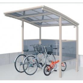 サイクルポート 三協アルミ スマイリン 積雪地型 2121 前面・側面パネル 1段タイプ 『サビに強いアルミ製 家庭用 自転車置き場 屋根』