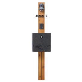 オンリーワン ウェルカムピラー機能門柱 シンプルAtype 天然木仕様 KA4型 KE1-KA4OK (E17) 『機能門柱 機能ポール』