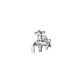 ニッコー 飾り蛇口 Hシリーズ 二口蛇口(ホースアダプター付) H305 『水栓柱・立水栓 蛇口 ニッコーエクステリア』 クロームメッキ