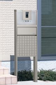 三協アルミ 機能ポール スリムモダン グリッド鋳物パネルタイプ プラン1 KPS 『機能門柱 機能ポール』