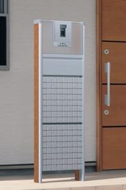 三協アルミ 機能ポール スリムモダン グリッド鋳物パネルタイプ プラン3 KPS 『機能門柱 機能ポール』