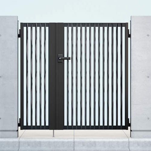 YKKAP シャローネ門扉 SC06型 04・08-10R(L) 門柱・親子開きセット