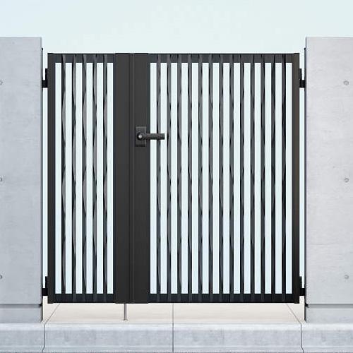 YKKAP シャローネ門扉 SC06型 04・08-12R(L) 門柱・親子開きセット