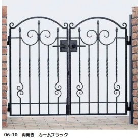 YKKAP シャローネシリーズ トラディシオン門扉1型 06-10 門柱・両開きセット