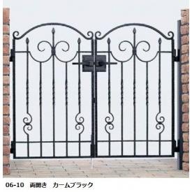 YKKAP シャローネシリーズ トラディシオン門扉1型 07-10 門柱・両開きセット
