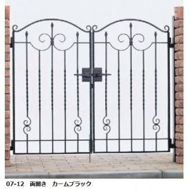 YKKAP シャローネシリーズ トラディシオン門扉1型 06-12 門柱・両開きセット