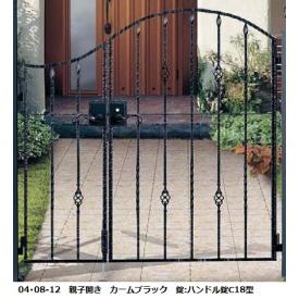 YKKAP シャローネシリーズ トラディシオン門扉5B型 04・07-12 門柱・親子開きセット