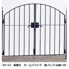YKKAP シャローネシリーズ トラディシオン門扉6型 08-12 門柱・両開きセット