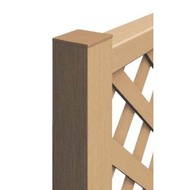 YKKAP リウッドフェンス間仕切り柱 端柱 T100 『木調フェンス 柵』