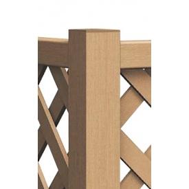 YKKAP リウッドフェンス間仕切り柱 90°専用角柱 T100 『木調フェンス 柵』