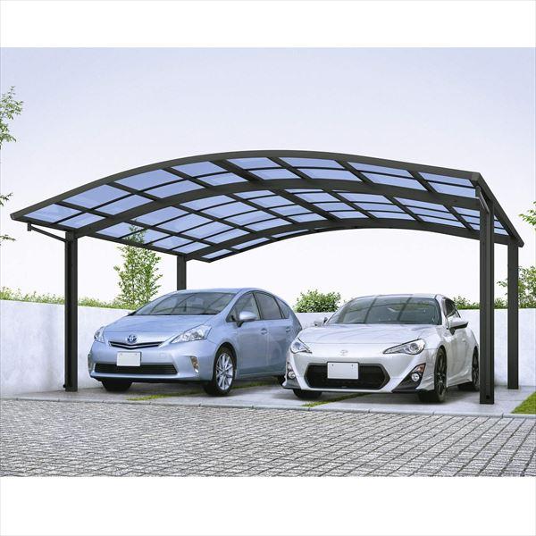 『全国配送』 YKK レイナツインポートグラン 基本セット 54-54 標準柱 熱線遮断ポリカーボネート屋根 CCD-W 『アルミカーポート 2台用 5454サイズ』