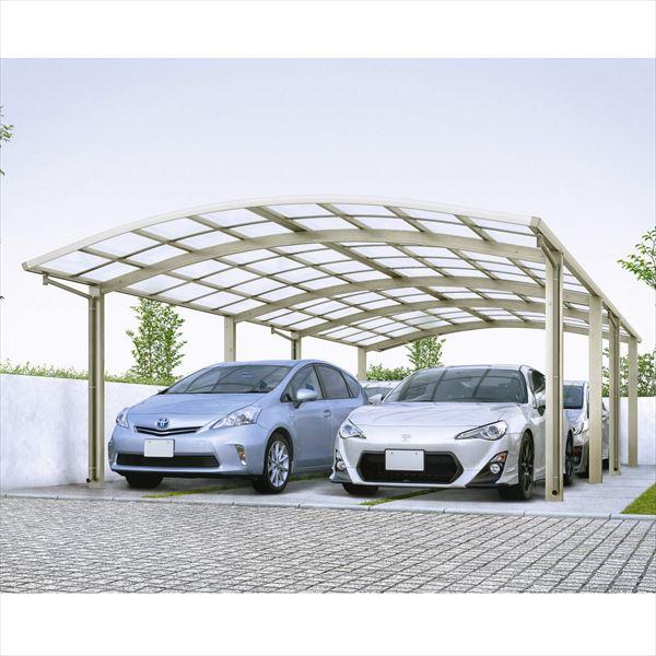 送料無料 YKKAP 車を雨風から守るカーポート 日本製の安心品質 全国配送 YKK 安売り レイナツインポートグラン たて連棟セット ポリカーボネート屋根 CCD-W 54-36L J54 ハイロング柱 在庫一掃 5436Lサイズ 4台用 アルミカーポート