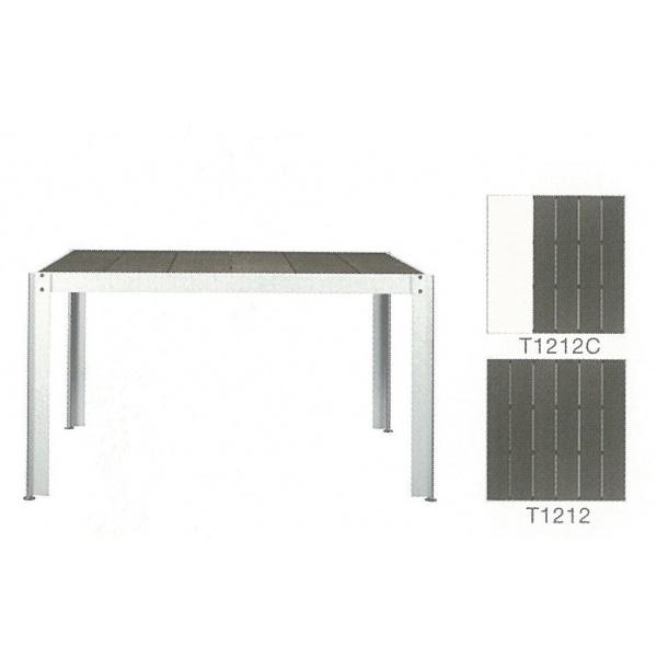 優先配送 クレスコ クッキンガーデン 正方形テーブル(8人用) 人工大理石付き T1212 『ガーデンテーブルセット』:エクステリアのプロショップ キロ-エクステリア・ガーデンファニチャー