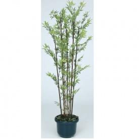『人工植栽』 タカショー グリーンデコ和風 黒竹7本立 鉢付 1.8m GD-50LH #21481500