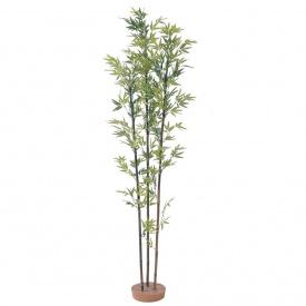 『人工植栽』 タカショー グリーンデコ和風 黒竹3本立 鉢無 1.8m GD-21L #21559100