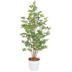 『人工植栽』 タカショー グリーンデコ和風 ベンジャミン グリーン鉢付 1.5m GD-120G
