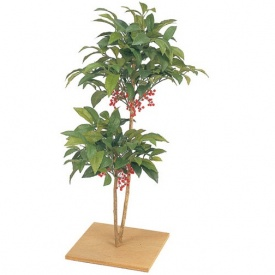 『人工植栽』 タカショー グリーンデコ和風 マンリョウ 板付 80cm GD-70
