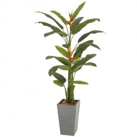 『人工植栽』 タカショー グリーンデコ鉢付 ヘリコニア 長鉢 2.3m GD-158A