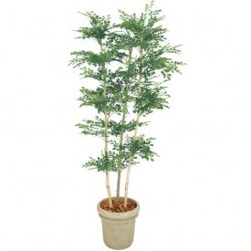 『人工植栽』 タカショー グリーンデコ鉢付 トネリコ 3本立 1.8m GD-156