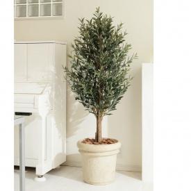 『人工植栽』 タカショー グリーンデコ鉢付 オリーブツリー 1.6m GD-38N
