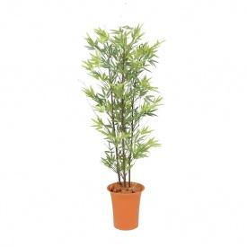 『人工植栽』 タカショー グリーンデコ鉢付 黒竹 1.2m GD-169