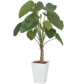 『人工植栽』 タカショー グリーンデコ鉢付 クワズイモ 1.2m GD-162M