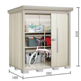 タクボ物置 ND/ストックマン ND-1814 一般型 標準屋根 『追加金額で工事も可能』 『屋外用中型・大型物置』 ムーンホワイト