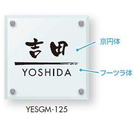 エクスタイル 機能門柱用表札 ガラス表札 YESG-M 『機能門柱 YKK用』 『表札 サイン 戸建』