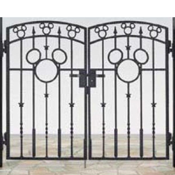 リクシル 新日軽 ディズニー門扉 角門柱式 ミッキーA型 0612 両開き ブラック