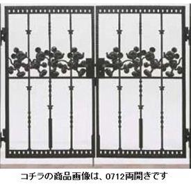 リクシル 新日軽 ディズニー門扉 角門柱式 ミッキーC型 0612 両開き ブラック