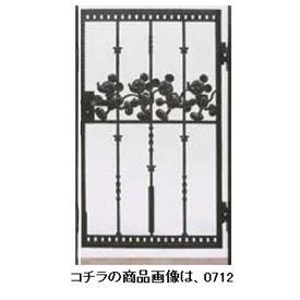 リクシル 新日軽 ディズニー門扉 角門柱式 ミッキーC型 0710 片開き ブラック