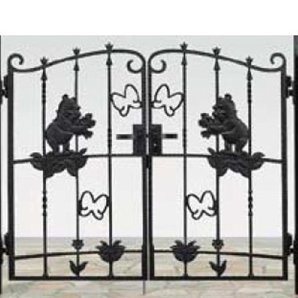 リクシル 新日軽 ディズニー門扉 角門柱式 プーさんA型 0712 両開き ブラック