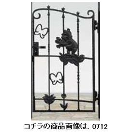 リクシル 新日軽 ディズニー門扉 角門柱式 プーさんA型 0710 片開き 『リクシル』 ブラック