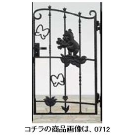 リクシル 新日軽 ディズニー門扉 角門柱式 プーさんA型 0810 片開き ブラック